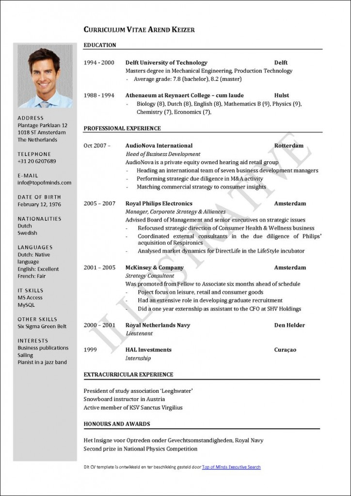 Sample Curriculum Vitae Of A Model on medical student, for job, what is, academic cv templates, application letter, for employment, science research, for law students, graduate school,