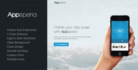 دانلود رایگان Appsperia - App Landing Page