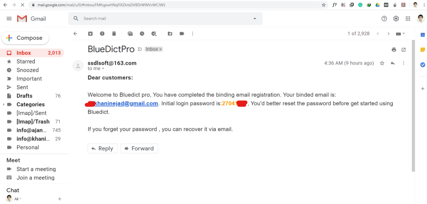 لایسنس اورجینال دیکشنری بلو دیکت مخصوص ایمیل شما خریداری میشود